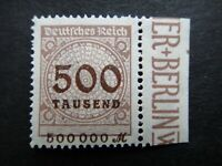 Germany 1923 ERROR Stamps MNH Wmk Network Deutsches Reich German Deutschland