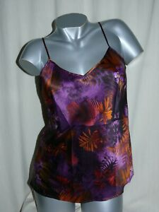 Lise Charmel Singlet Straps Top Foret Lumiere Foret Pourpre Purple Silk New