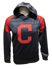 Cleveland Indians Youth Boys Clubhouse Pullover Hooded Sweatshirt - Navy