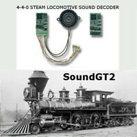 4-4-0 steam locomotive  SoundGT2.1 DCC decoder for Bachmann, Mantua, IHC, brass