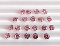 16.90 Cts 20 Pcs Loose Pink Zircon Round Cut Lot Loose Gemstone 5 MM H-2319