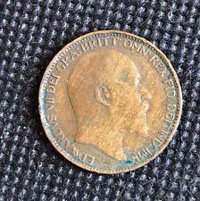 1907 Edward VII Farthing UK British Coin
