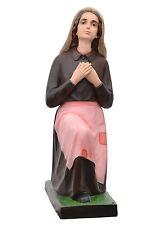 Saint Bernadette Soubirous resin statue cm. 90 with glass eyes