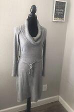 Design History Women's Tunic Dress Cowl Neck Long Sleeves Gray Size Medium