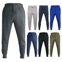 Mens Gym Sports Slim Fit Fleece Joggers Trouser Skinny Tracky Bottoms Sweat Pant