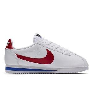 Wmns Nike Classic Cortez UK 7.5 EUR 43 White Varsity Red New 807471 103