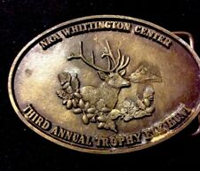 NRA Whittington Center National Rifle Association Elk Hunt Vintage Belt Buckle
