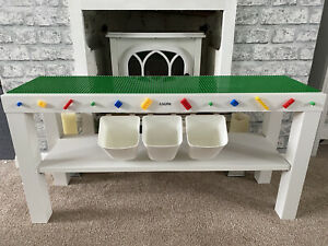 Childrens Baseplates Construction Play Table Brick Storage Compatible with Lego