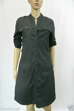 Cotton Blend Stripes Shirt Dresses for Women