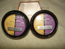 L'OREAL HIP EYE SHADOW DUO: SHADE #538 FLAMBOYANT: YELLOW & PURPLE: LOT OF 2