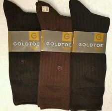 GoldToe Men Socks, Rayon Rib, 3 Pairs Dress Fashion Color Assortment
