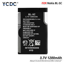 3.7V 1200mAh BL-5C Battery For Nokia 6680 6681 6682 7600 7610 N70 N71 N72 N91 0