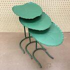 3 Salterini Lily Pad Nesting Patio Tables Original Green MCM Mid Century Modern