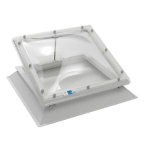 Coxdome Rooflight - Electric Ventilation Skylight Dome for Flat Roof + Kerb