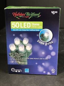 Christmas Lights Holiday Brilliant 50LED Dome White Lights 18.6FT Indoor/Outdoor