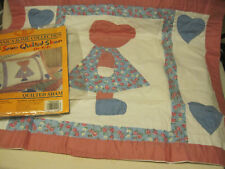 NOS Britannica Home Collection SUNBONNET SARAH Hand Sewn Quilted SHAM