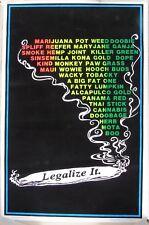 1996 Black light Marijuana Poster: LEGALIZE IT. Funky Enterprises, NY #915