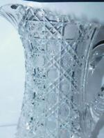 ANTIQUE AMERICAN BRILLIANT CUT GLASS WATER PITCHER RUSSIAN HARVARD CHAIR BOTTOM