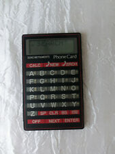 Seiko Instruments Electronic Phone Card/Calculator Model Df-210 Works #581