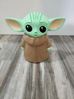 "Star Wars Mandalorian 8"" Hand Painted Ceramic Coin Bank Baby Yoda The Child"