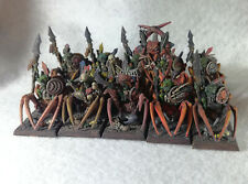 10 Forest Goblin Spider Riders, PAINTED, Warhammer WFB
