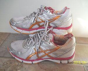 Asics GT 2000 Women Shoes Sneakers White Silver Pink Orange 5 M Nice