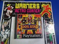 100% star  PlayStation PS1 Boxed W / manual  PAL UK game