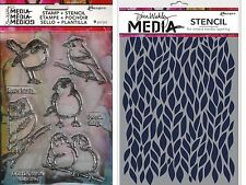 Ranger ~ Little Birdies ~ Stamp & Stencil Set ~ Dina Wakley Media ~ Bird Owl