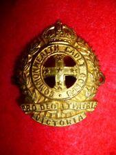 Australia - Victoria State Volunteer Cadet Corps KC Cap / Hat Badge c.1900-1906