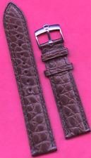 GENUINE ROLEX STEEL BUCKLE & CORDOVAN GEN. ALLIGATOR BAND STRAP 19mm EXTRA LONG