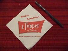 Rochester Topper Beer Pilsener Ale  Vintage Napkin new old stock unused