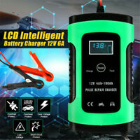 12V 6A Car Battery Charger LCD Intelligent Automobile Motorcycle Pulse Repair