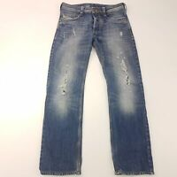 Diesel TIMMEN Mens  Jeans W32 L30 Blue Regular Fit Straight High Rise Cotton