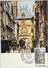 Yt 1875  FRANCE  Carte Postale Maximum ROUEN LE GROS HORLOGE