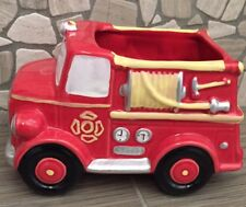 Ceramic Firetruck Planter / Candy Dish