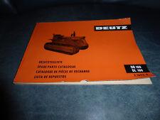 Original Ersatzteilliste Deutz Raupenschlepper DR 100 und DL 100