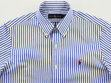 Men's RALPH LAUREN Blue White Stripe Striped Shirt Extra Large XL NWT NEW Nice!
