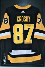 4fa7cc0d444 Sidney Crosby Pittsburgh Penguins Signed Adidas Home Jersey-Frameworth