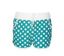 """NEW! AUTH IN EXTENSO WOMEN'S BOARDSHORTS/ WATER SHORTS (TEAL DOTS, XS/ W26-28"""")"""