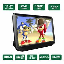 "US Slim 11.6""IPS 1920*1080 Screen Car Headrest TV Monitor DVD/USB/SD/HDMI Player"