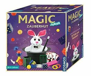 Magic Zauberhut, Lerne 35 Zaubertricks, Zauberkasten, für Kinder ab 6 Jahre