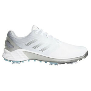 NEW Mens Adidas 2021 ZG21 Golf Shoes White / Silver / Grey 9.5 M