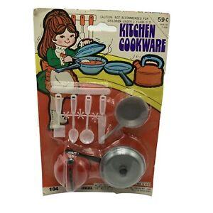 Vintage Shimmel Toy Kitchen Cookware Red Tea Kettle Doll Utensils NOS