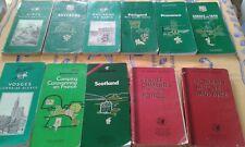 lot de 11 guides touristiques Michelin,guides rouges