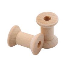 10Pcs/set Wooden Bobbins Spools Box Sewing Machine Bobbin Case Storage 8C