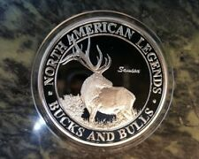 North American Hunting Club Samson Elk Big Game Super Slam Silver Plate Coin