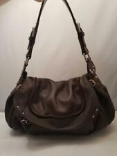 Kenneth Cole Brown Leather Slouchy Hobo Shoulder Bag Purse os