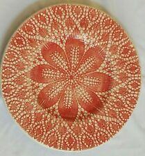NEW VIETRI VIVA LACE RED SET OF 4 SALAD PLATES