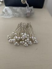 Wedding Hair Pins 20 silver with pearls