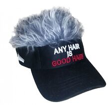 FLAIR HAIR ANY HAIR IS GOOD HAIR BLACK VISOR GREY HAIR QUALITY SURF SKATE GOLF